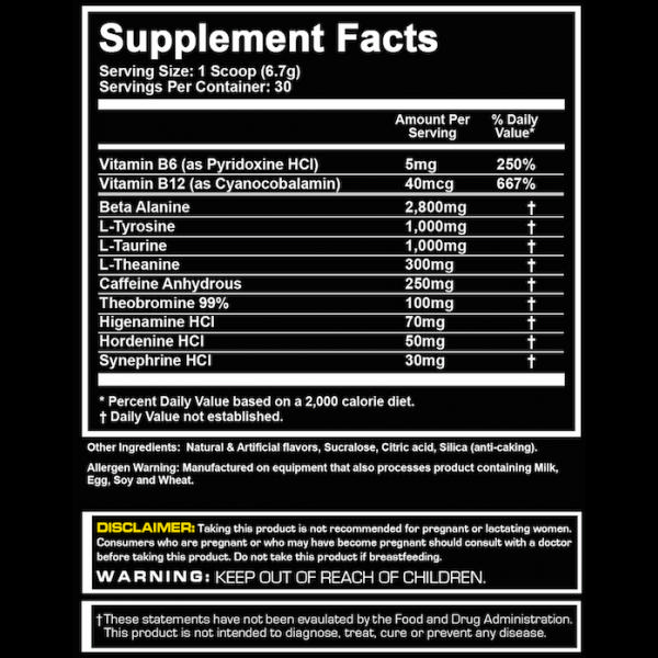 Platinum Labs Awaken Nutritional Information