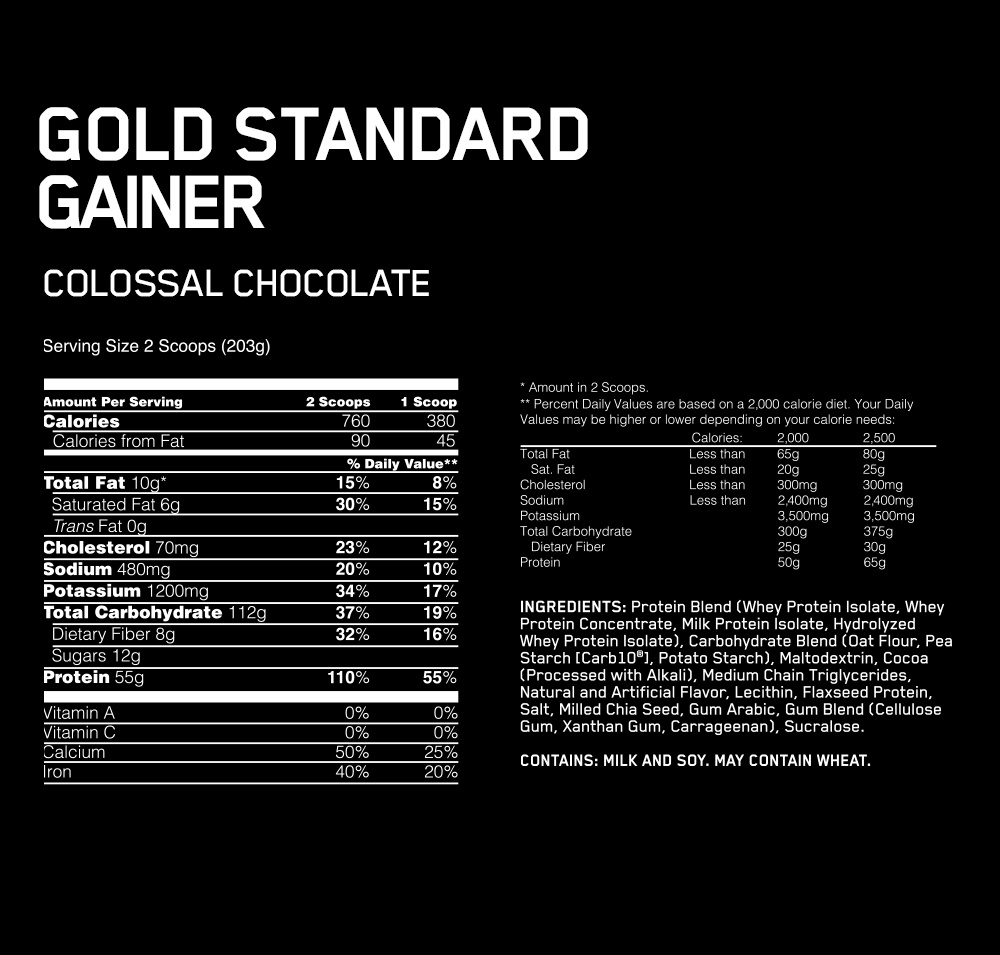 Optimum Nutrition Gold Standard Gainer 10lb $159.95