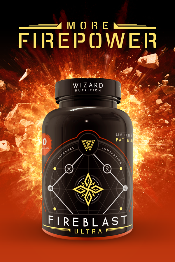Wizard Nutrition Fireblast Advert